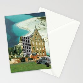 city unreal · hinaus aufs land Stationery Cards