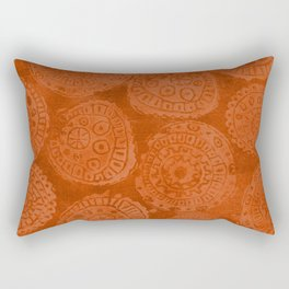 Tribal Terracota Rounds Rectangular Pillow
