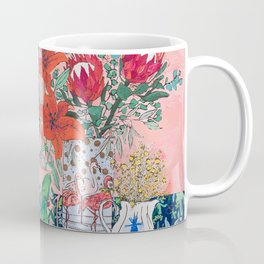 The Domesticated Jungle - Floral Still Life Coffee Mug