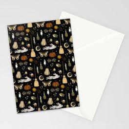 october nights Stationery Cards