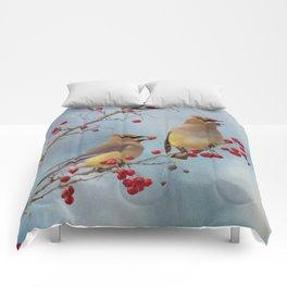 Cedar Waxwing Pair Comforters
