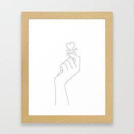 Love Snap Framed Art Print