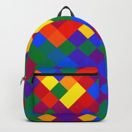 Gay Pride Pixelated Angled Squares Backpack