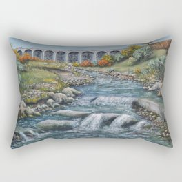 The Nine Arches, Tredegar Rectangular Pillow