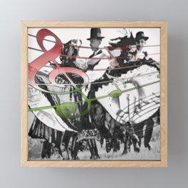 Cool Folk Dance Framed Mini Art Print