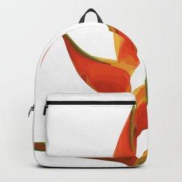 Heliconias Flower orange Backpack