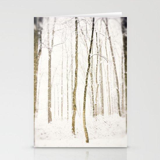 Snowy Trail Stationery Cards