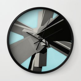 Abstract Rectangular Slabs Wall Clock