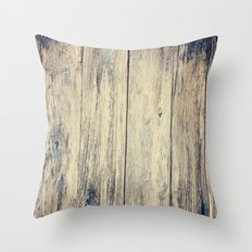 Wood Photography II Throw Pillow