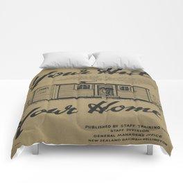 Vintage poster - New Zealand Railways Comforters