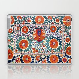 Shakhrisyabz Suzani Uzbekistan Antique Embroidery Print Laptop & iPad Skin