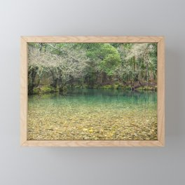 Tranquility in the emerald river Framed Mini Art Print