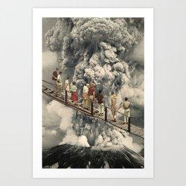 the eruption... Art Print