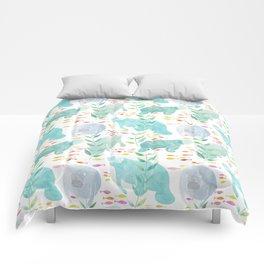 Lazy Manatees Comforters