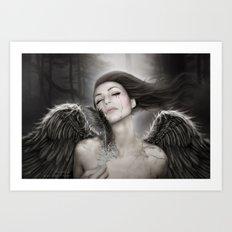When Angels Break I Art Print