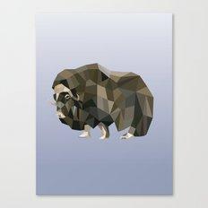 Geometric Yak Canvas Print