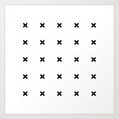 Black X on White Art Print