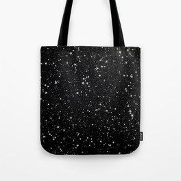 Glitter Stars2 - Silver Black Tote Bag