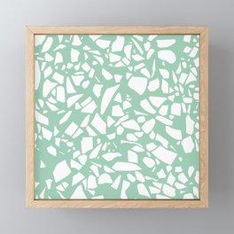 Terrazzo Mint Framed Mini Art Print