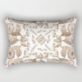 Gold Dandelion Mandala Rectangular Pillow