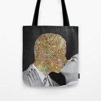 kiss Tote Bags featuring Gold Digging by Eugenia Loli