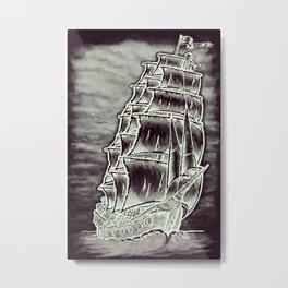Caleuche Ghost Pirate Ship Variant Metal Print