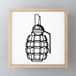 Grenade Framed Mini Art Print