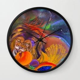 The Vegan Kiniun Wall Clock