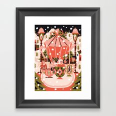 Christmas Coffee Carousel Framed Art Print
