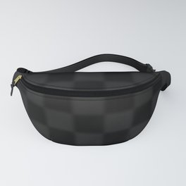 Black and grey chequered pattern Fanny Pack