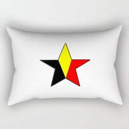 Flag of belgium 6 belgian,belge,belgique,bruxelles,Tintin,Simenon,Charleroi,Anvers,Maeterlinck Rectangular Pillow