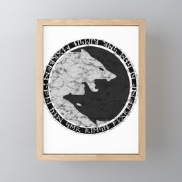 Fenris the wolf Framed Mini Art Print