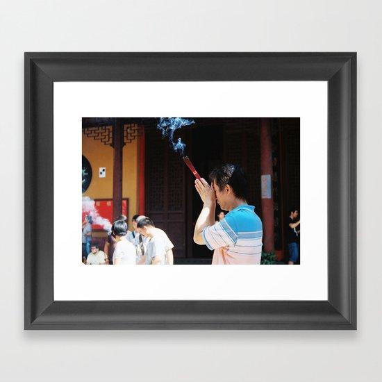 Jade Buddha Temple - Shanghai Framed Art Print