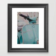 Mint Vespa  Framed Art Print
