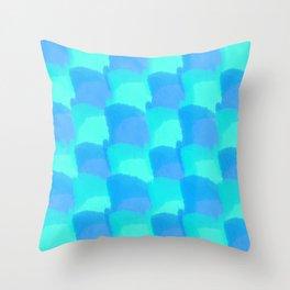 Bluesy Quilt Throw Pillow