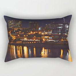 Nightlife Reflection Rectangular Pillow