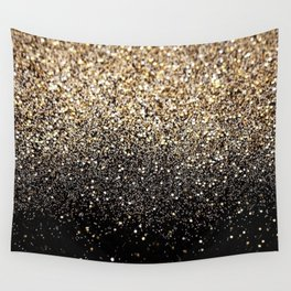 Black Royalty Glitter  Wall Tapestry