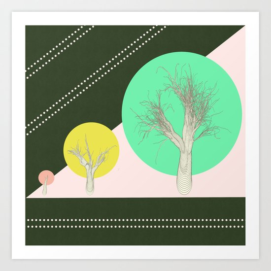 In my world forests are geometric Art Print