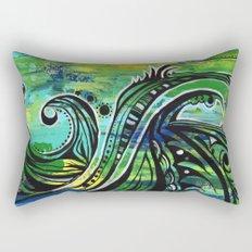 green and blue Rectangular Pillow