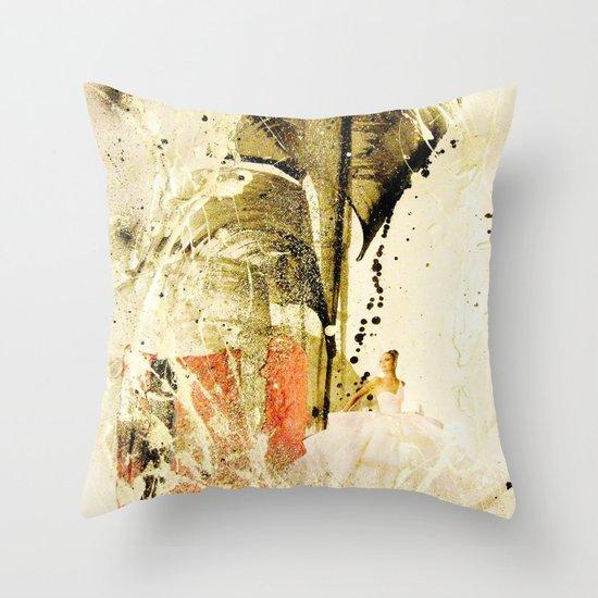 lady in white Throw Pillow