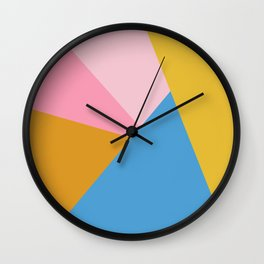 Cute Colorful Diagonal Color Blocking Wall Clock