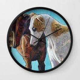Paisley Paws de Deux Wall Clock