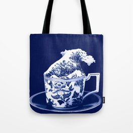 TEMPEST IN A TEACUP, HOKUSAI STYLE Tote Bag