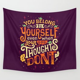 Thoughts are only thoughts Wall Tapestry