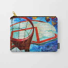 Colorful Modern Basketball Art Carry-All Pouch