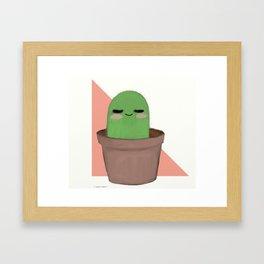 Chill Cactus Framed Art Print