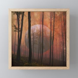 Not From Here, Surreal Forest Framed Mini Art Print