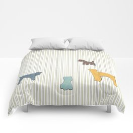 Going To The Dogs Plaid Terriers Comforters