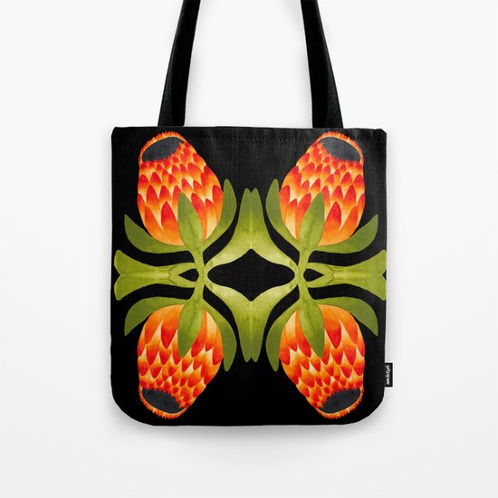 Floral symmetry 1. Tote Bag