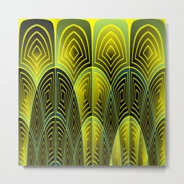 Green feathers Metal Print